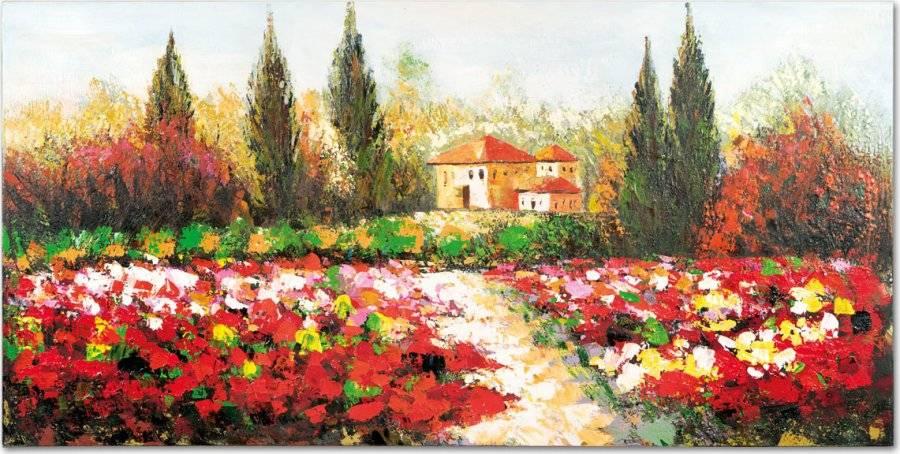 Obraz - krajina, ruční olejomalba na plátně DOR041 Art