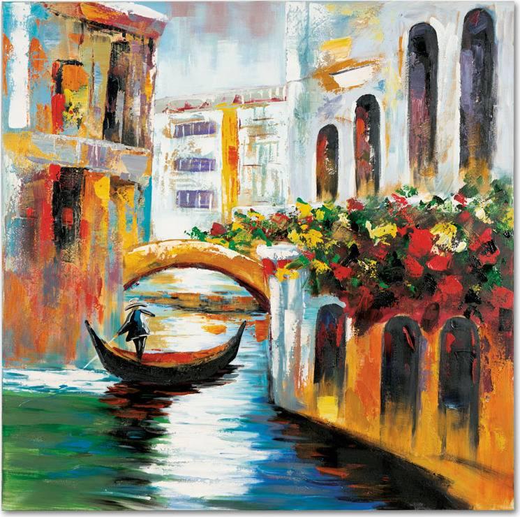 Obraz - Benátky, ruční olejomalba na plátně DOR042 Art