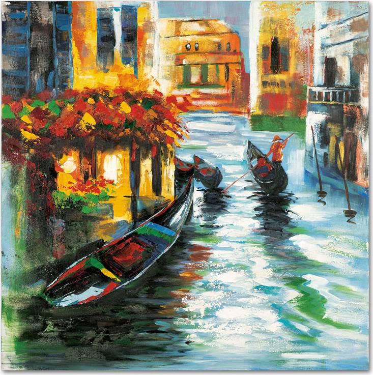 Obraz - Benátky, ruční olejomalba na plátně DOR043 Art