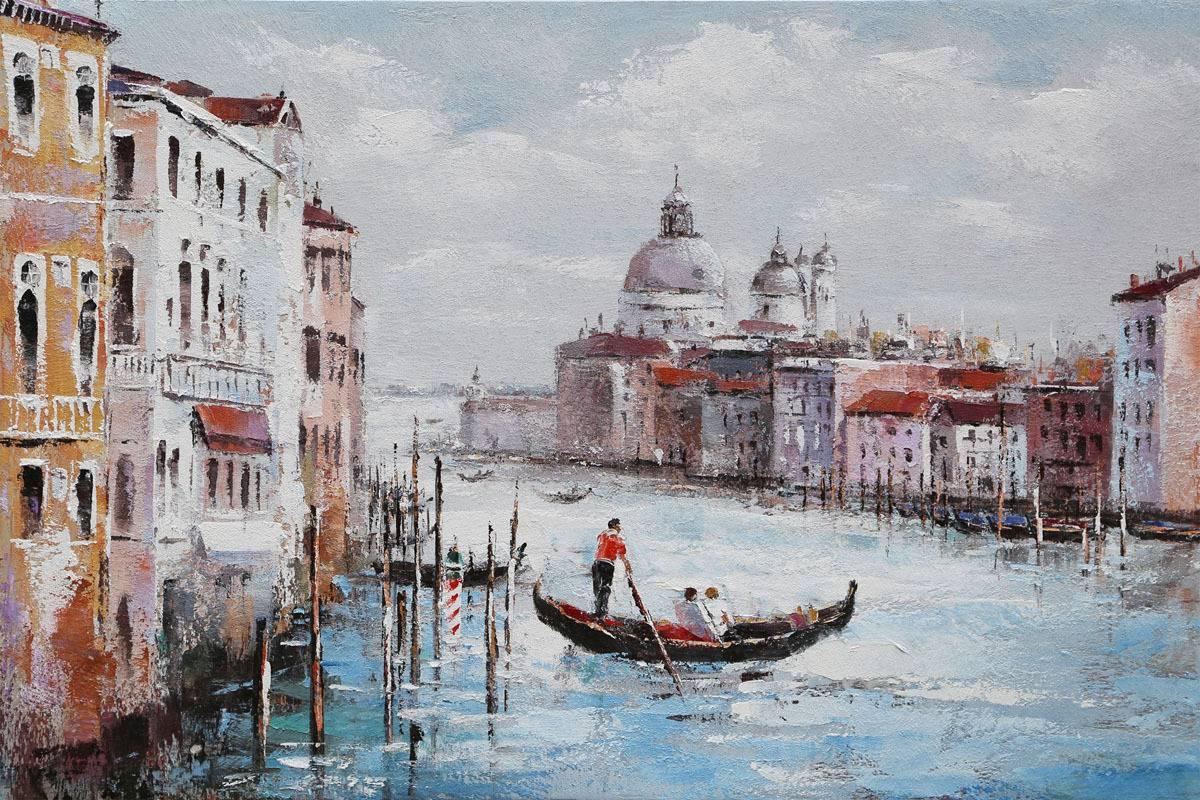 Obraz - Benátky, ruční olejomalba na plátně DOR046 Art