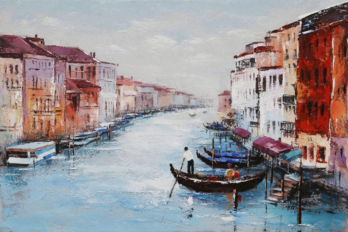 Obraz - Benátky, ruční olejomalba na plátně DOR047 Art