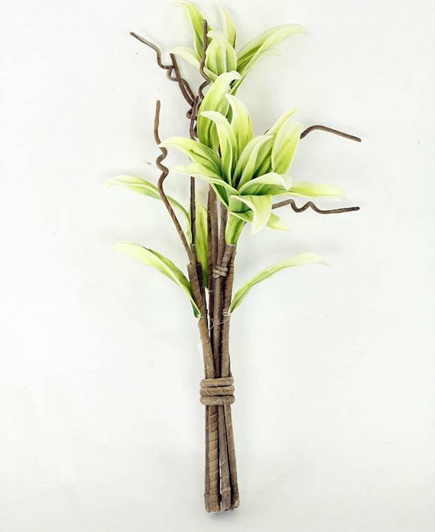Magnolie ve vazbě, béžovo-zelená umělá pěnová K-113 Art