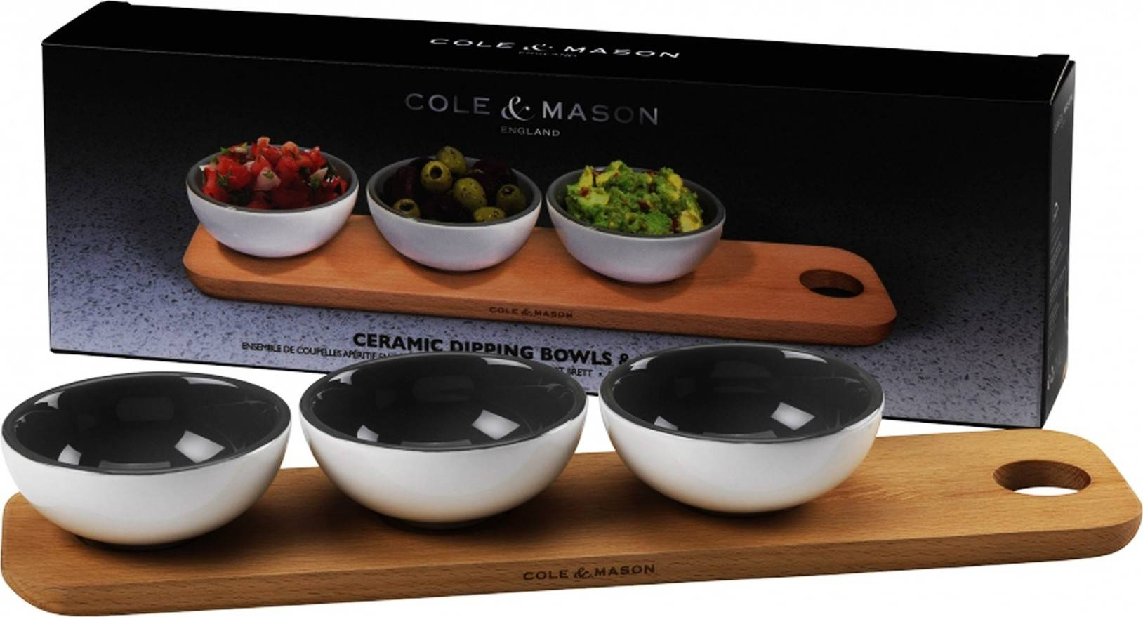 Cole & Mason keramické servírovací misky a prkénko H106269 DKB Household UK Limited