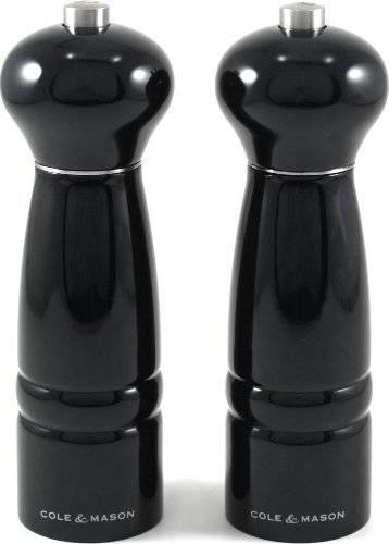 Fotografie Cole and Mason WINDSOR dárková sada, černá, mlýnek na pepř a sůl, 180mm H478581-2 DKB Household UK Limited