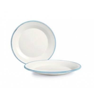 Smaltovaný talířek 17,5cm světle modrý - Ibili