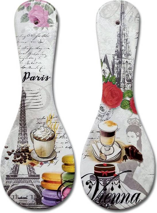 Podložka kuchyňská z keramiky a korku, mix 2 dekorů, cena za 1 kus KH-4103 Art