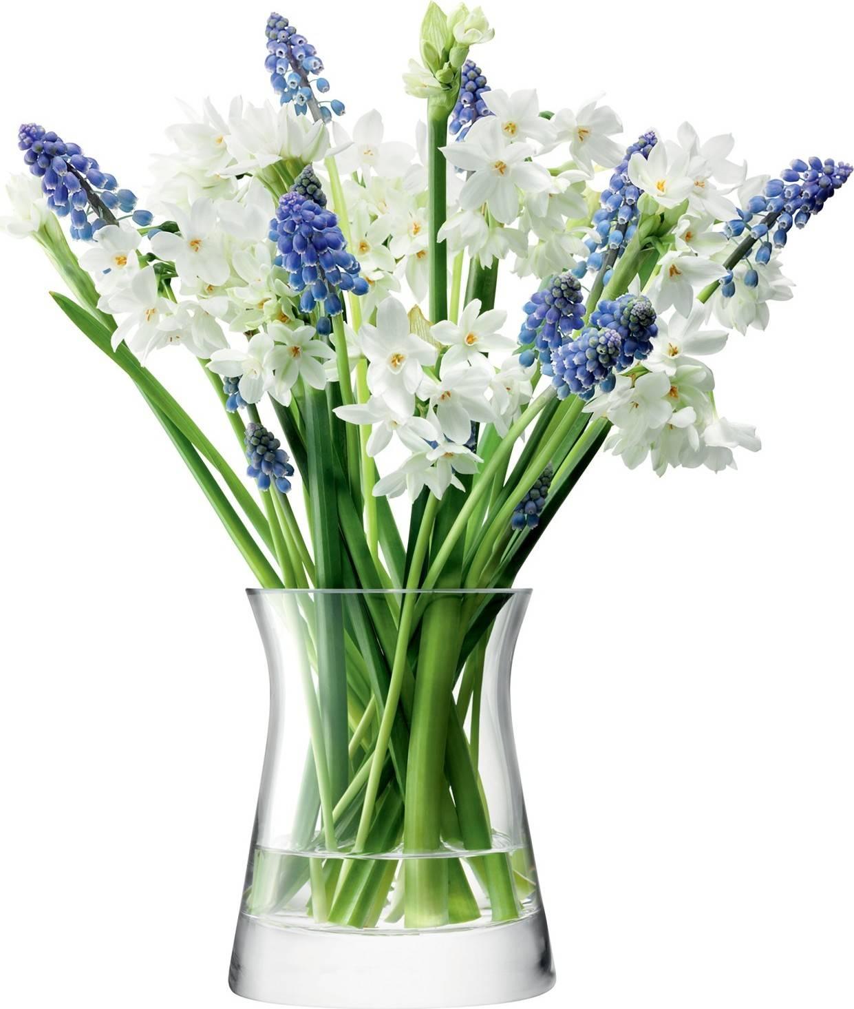 Flower Garden Posy skleněná váza v.13cm čirá, LSA, Handmade G602-13-301 LSA International