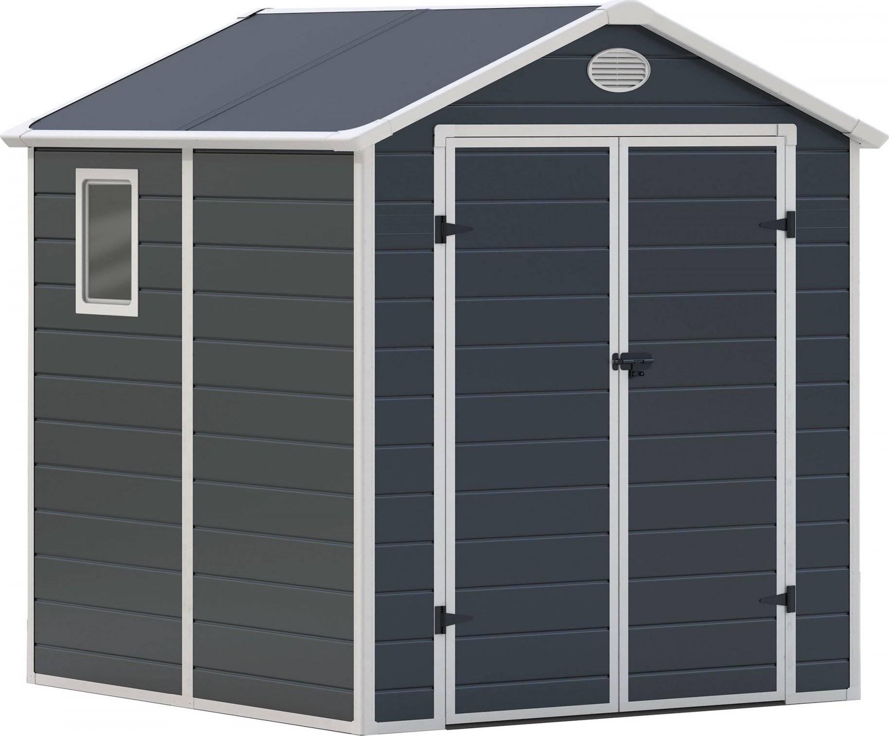 Zahradní domek PAH 357 - 188 x 190 cm, plastový, šedý 6390036 G21