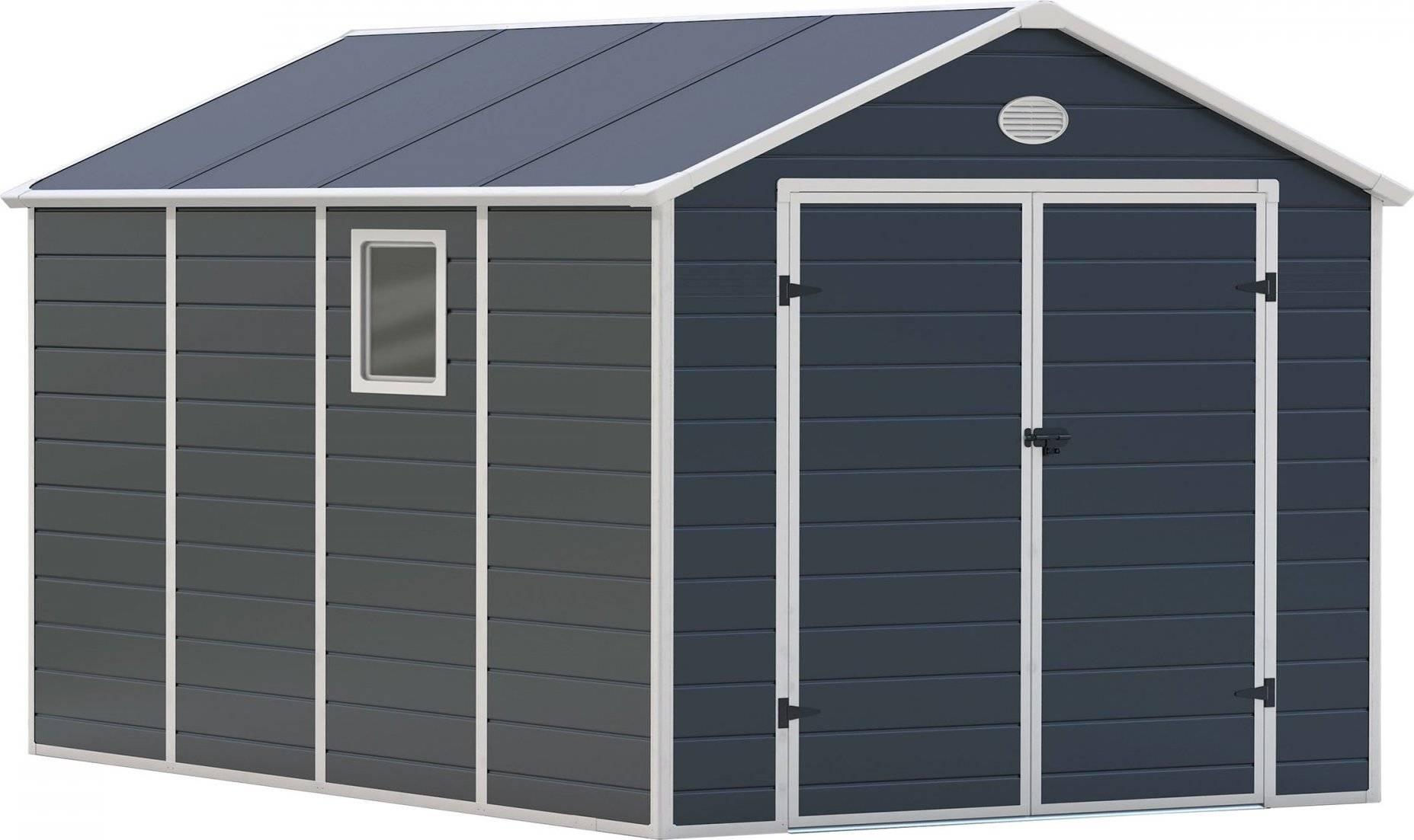 Zahradní domek PAH 882 - 241 x 366 cm, plastový, šedý 6390040 G21
