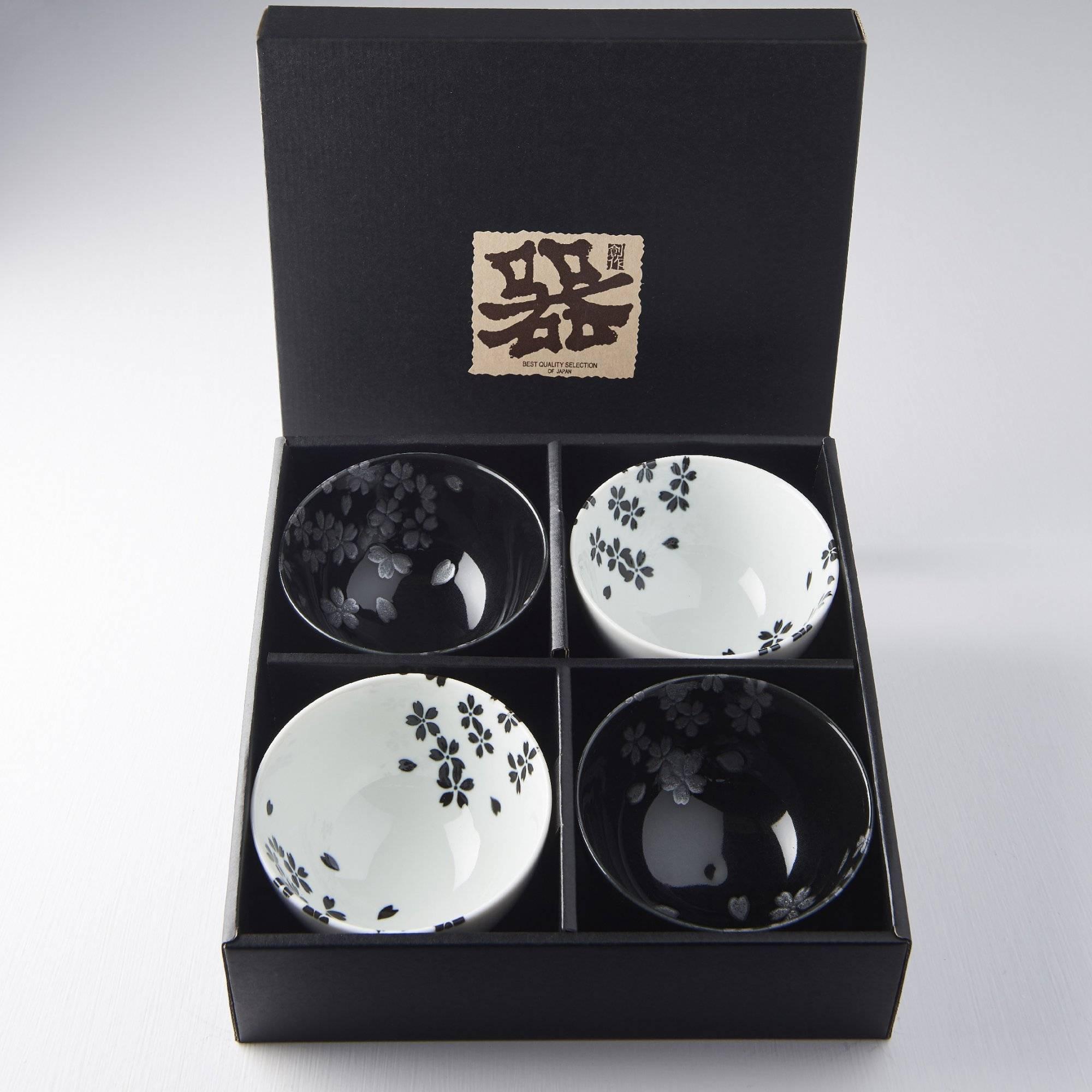 Set misek Black Sakura 260 ml 4 ks C0319 MIJ