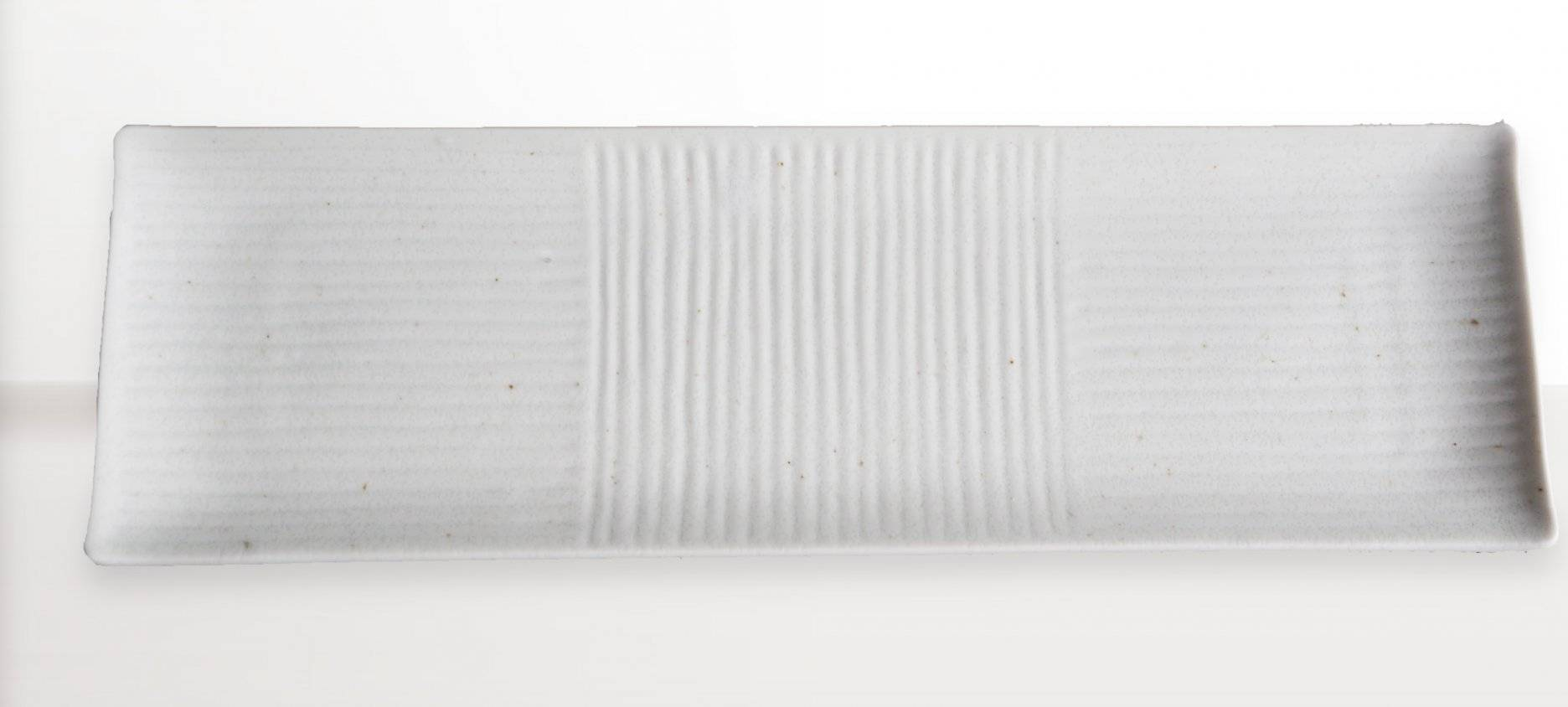 Hranatý talíř na sushi Lines bílý 33 x 10 cm C7851 MIJ