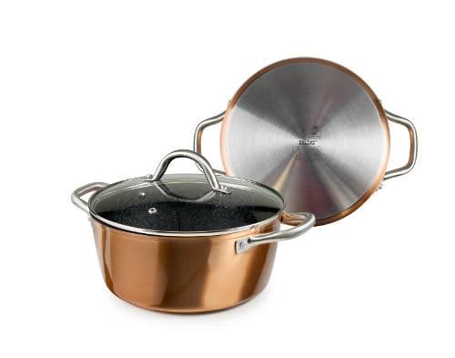 Luxusní hrnec Copper měděné provedení vhodný na indukci 24x10cm řada profi - Ibili