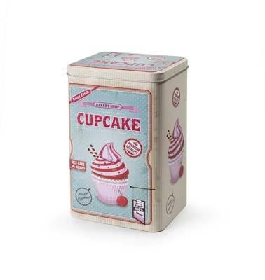 Designová dóza retro cupcake 13x10cm - Ibili