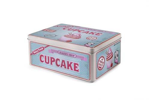 Designová dóza retro cupcake 22x16cm - Ibili