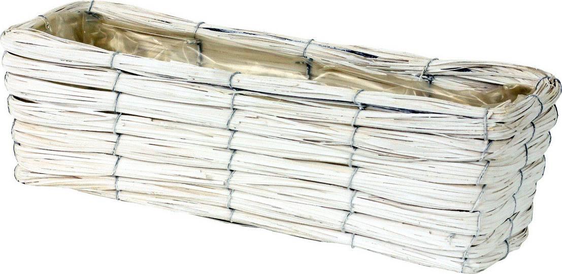 Truhlík dekorační, štípané dřevo -proutí PD106 Art