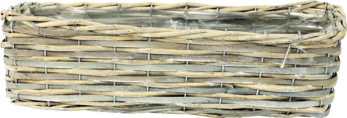 Truhlík dekorační, štípané dřevo -proutí PD111 Art