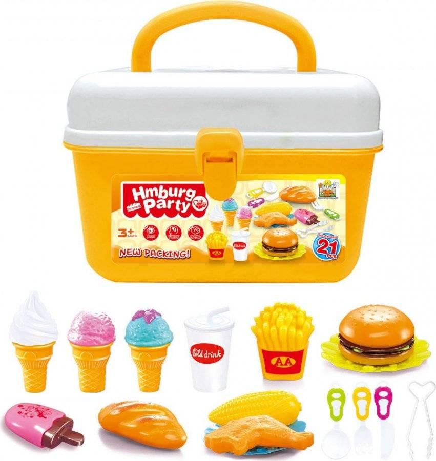 Hračka Hamburger a zmrzlina v kufříku 60026326 G21