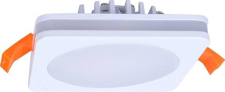 LED podhledové svítidlo, 6W, 420lm, 4000K, IP44, čtvercové WD136 Solight