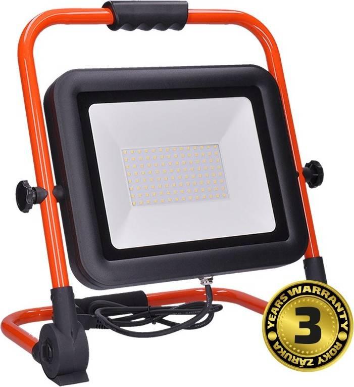 LED reflektor PRO se sklopný stojanem, 100W, 8500lm, 5000K, kabel se zástrčkou, IP65 WM-100W-FEL Solight