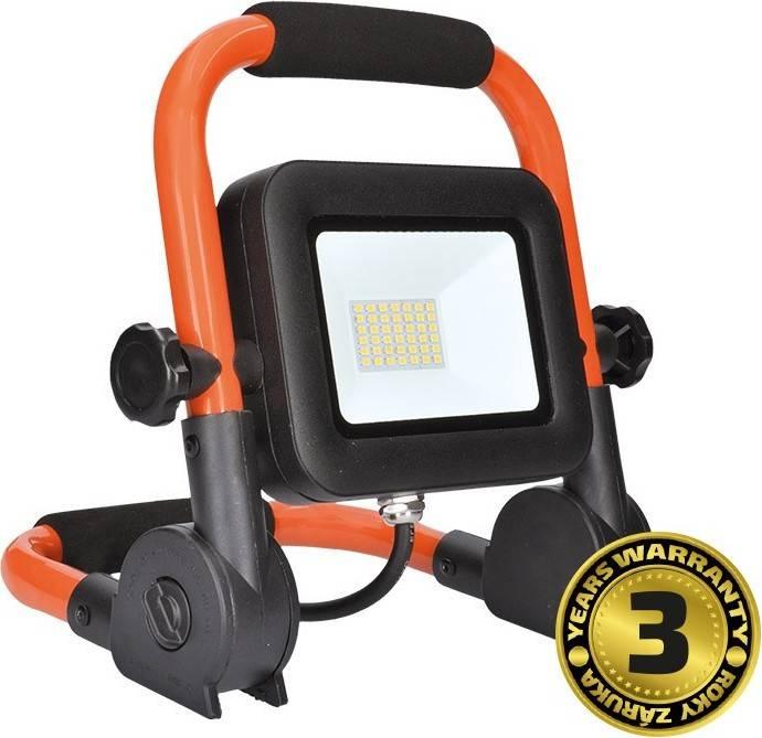 LED reflektor PRO se sklopným stojanem, 30W, 2550lm, 5000K, kabel se zástrčkou, IP65 WM-30W-FEL Solight