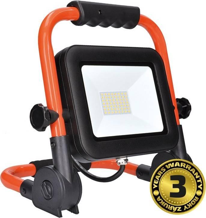 LED reflektor PRO se sklopným stojanem, 50W, 4250lm, 5000K, kabel se zástrčkou, IP65 WM-50W-FEL Solight