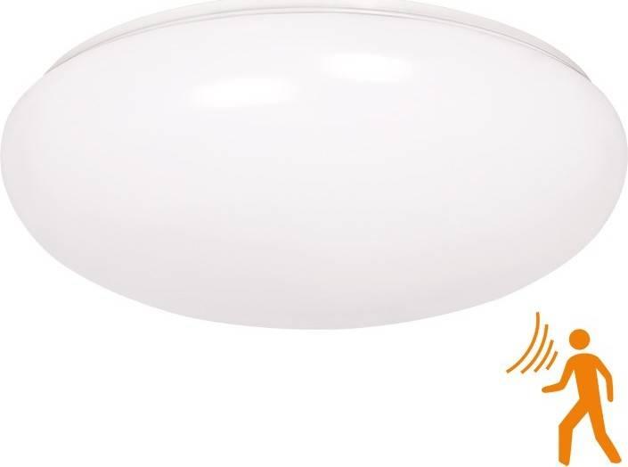 LED venkovní osvětlení se senzorem, přisazené, 18W, 1260lm, IP44, 4100K, 40cm WO737 Solight