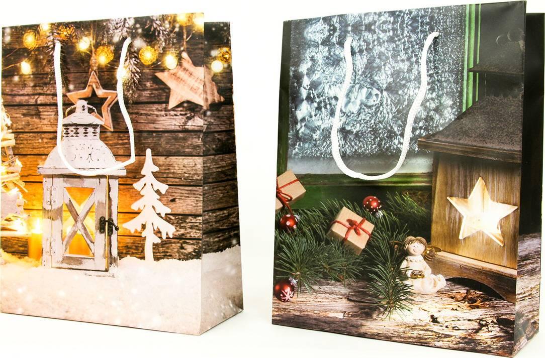 Taška dárková papírová střední, vánoční motiv AUT138-ST Art