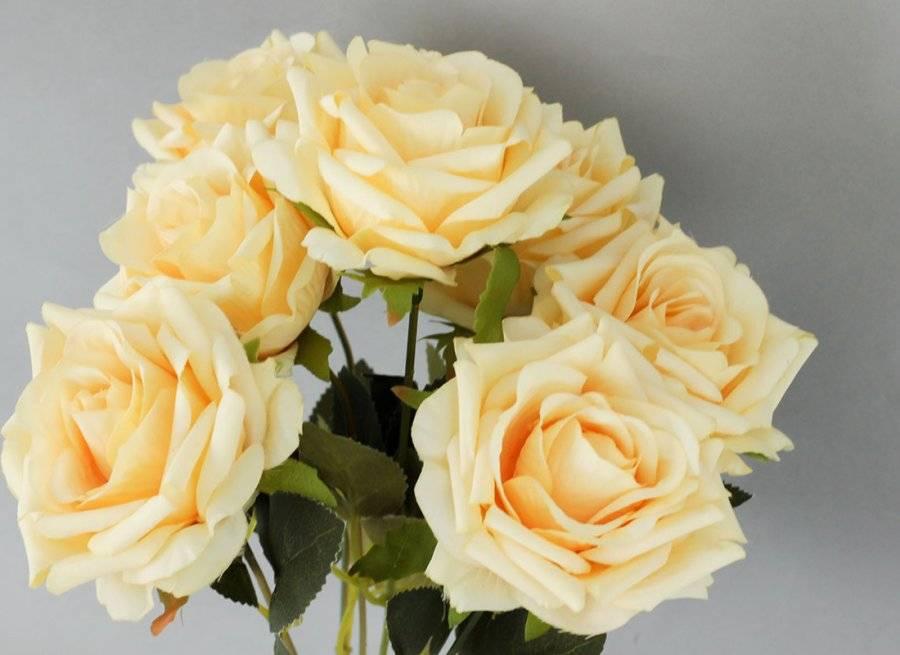 Růže puget, umělá květina, barva žlutá KUM3233 Art