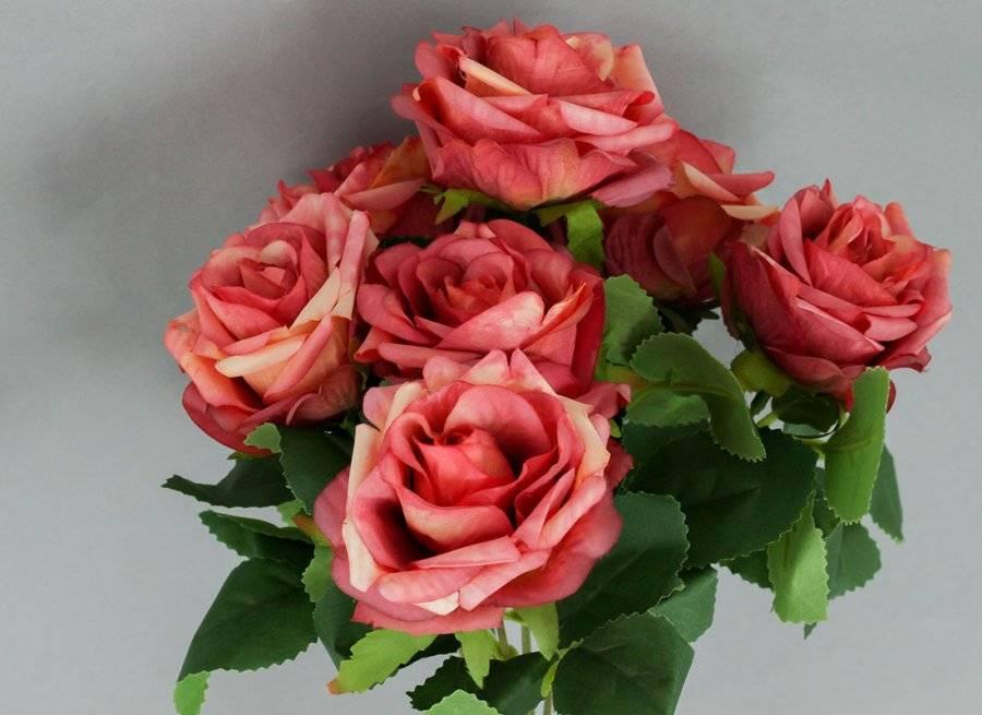 Růže puget, umělá květina, barva růžová KUM3236 Art