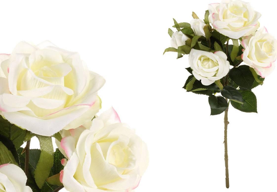 Růže puget, umělá květina, barva krémová SG5681 Art