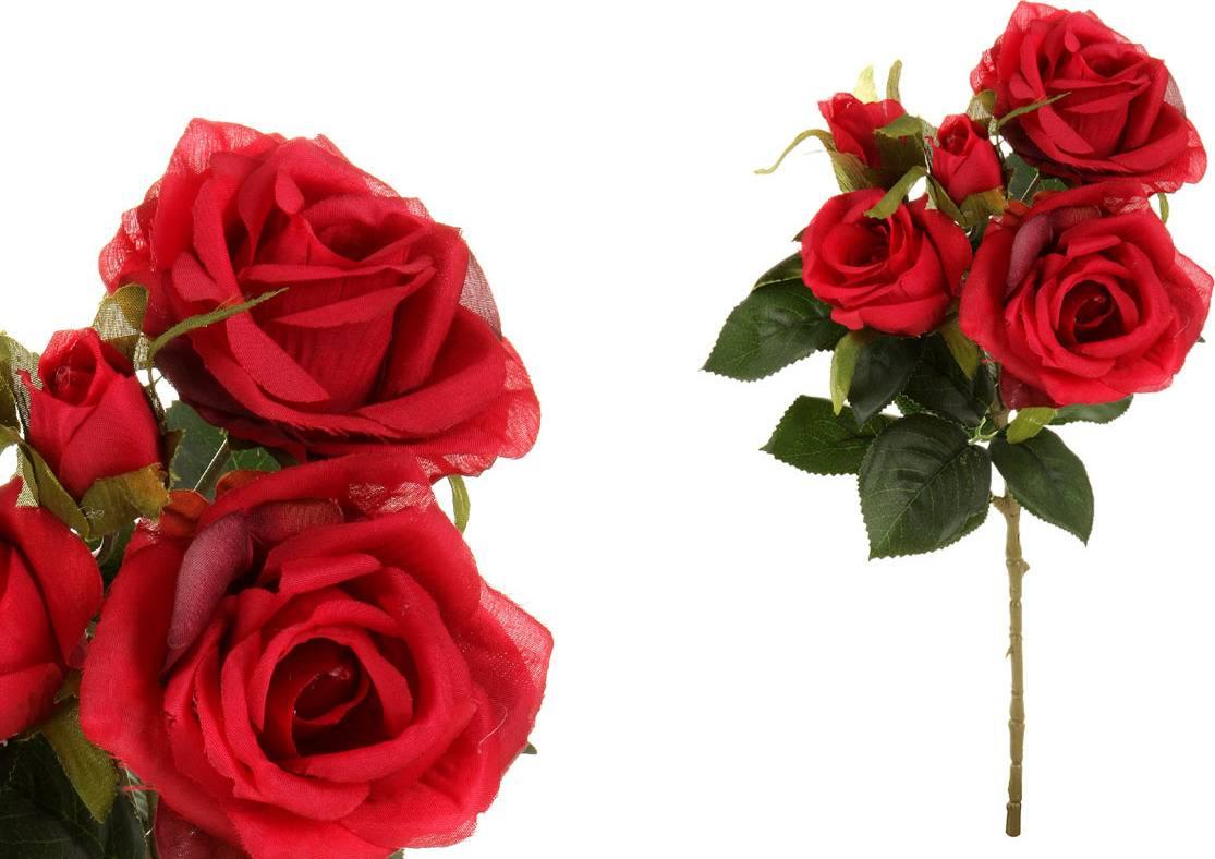 Růže puget, umělá květina, barva červená SG5698 Art