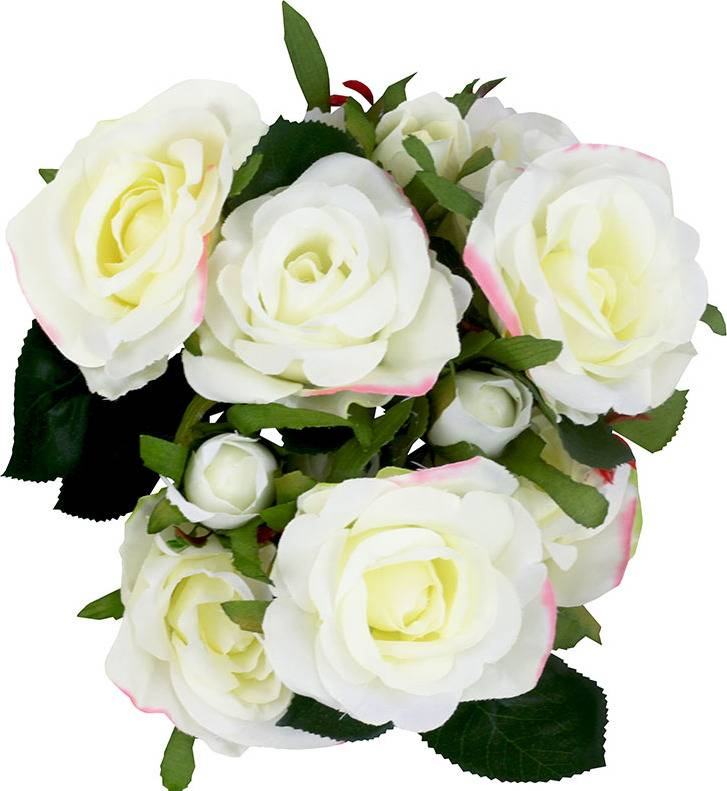 Růže puget, umělá květina, barva krémová SG5728 Art