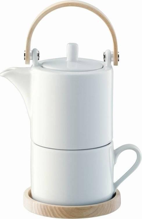 Circle čaj pro jednoho, jasanové držadlo & podšálek, LSA P245-07-517 LSA International