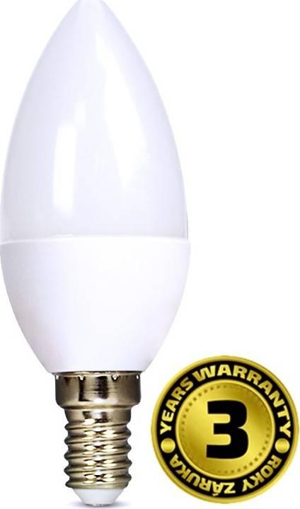 SOLIGHT Žárovka LED svíčka E14 8W bílá teplá