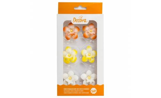 Cukrové zdobemní mini orchidej 6ks - Decora