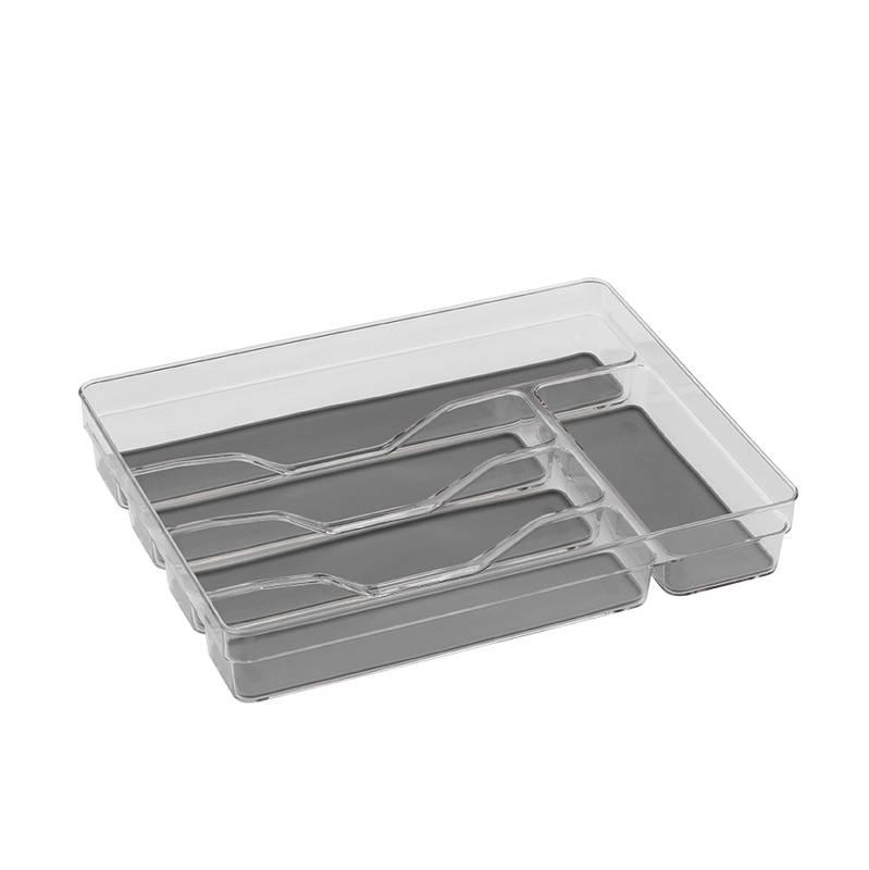 Příborník LAILA, plast, transparent, 33,5x26,5x6cm - Kela