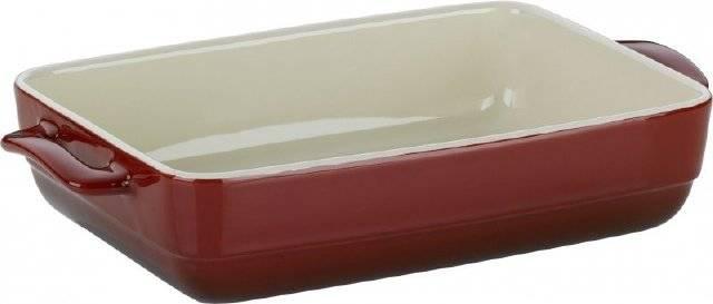 Pekáč MALIN, keramika, červená, 19x32x6,5cm - Kela