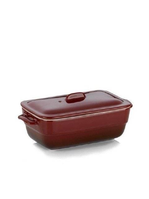 Pekáč MALIN vč.poklice, keramika, červená, 21x10x8cm - Kela