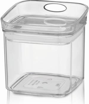Skladovací dóza JULE, MS plast, 10,5x10,5x10,5cm 0.5L - Kela