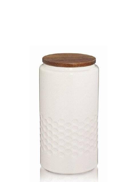 Skladovací dóza MELIS, keramika, krémová, O10,5cm x v20,5cm 1.3L - Kela