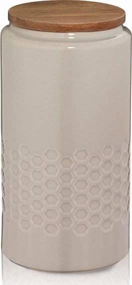 Skladovací dóza MELIS, keramika, šedá, O10,5cm x v20,5cm 1.3L - Kela