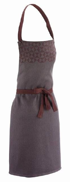Zástěra HENRIK, 100%bavlna, hnědá - vzor 80x67cm - Kela