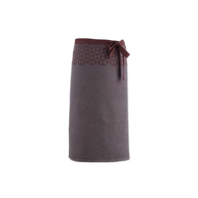 Zástěra HENRIK, 100%bavlna, hnědá - vzor 90x70cm - Kela