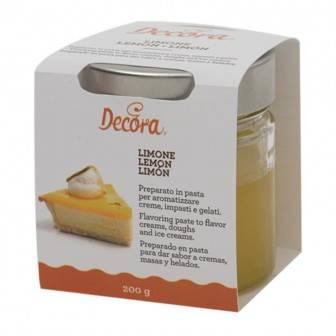 Citrónová ochucovací pasta 200g - Decora