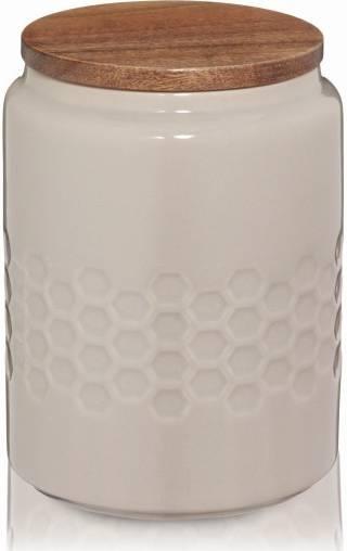 Skladovací dóza MELIS, keramika, šedá, O10,5cm x v14,5cm 0.8L - Kela