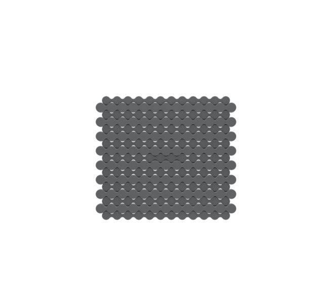 Protiskluzná podložka pod nádobí RINCER šedá 25x28cm - Kela