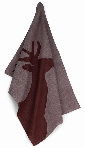 Utěrka HENRIK, 100%bavlna, hnědá - jelen 70x50cm - Kela
