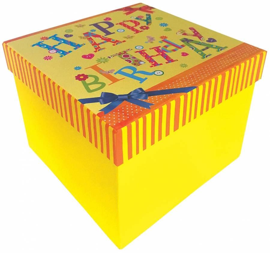 Fotografie Krabička na dárek k narozeninám 15x15x11cm - Alvarak
