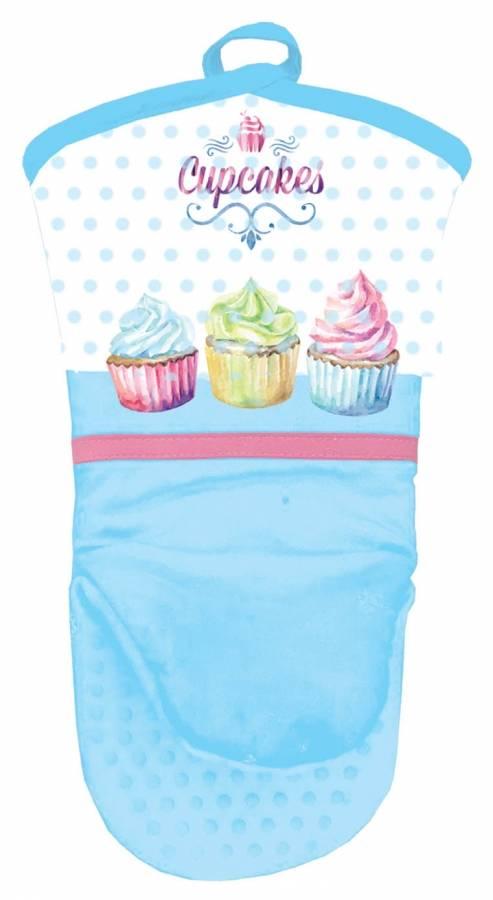Kuchyňská rukavice se silikonovou dlaní cupcakes - Alvarak