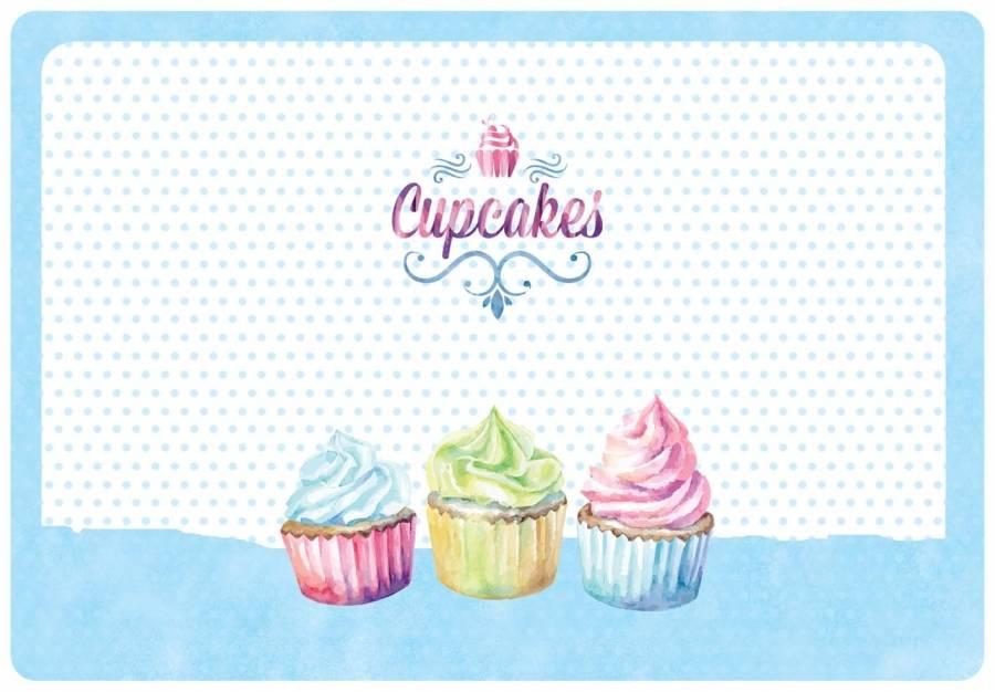Omyvatelné prostírání na stůl 31x45cm Cupcakes - Alvarak